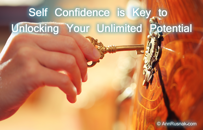 Self Confidence is Key to Unlocking Your Unlimited Potential