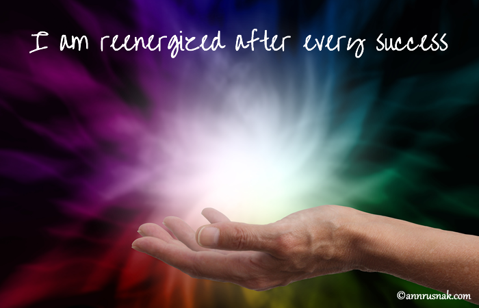 Reenergize success affirmation